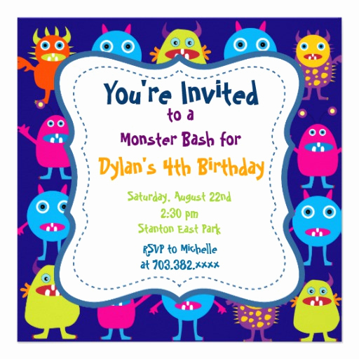 Monster Birthday Invitation Template Awesome Cute Monster Birthday Party Invitation Templates 13 Cm X