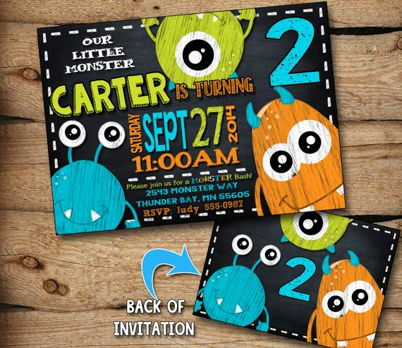 Monster Birthday Invitation Template Beautiful Monster Birthday Invitation Monster Invitation by