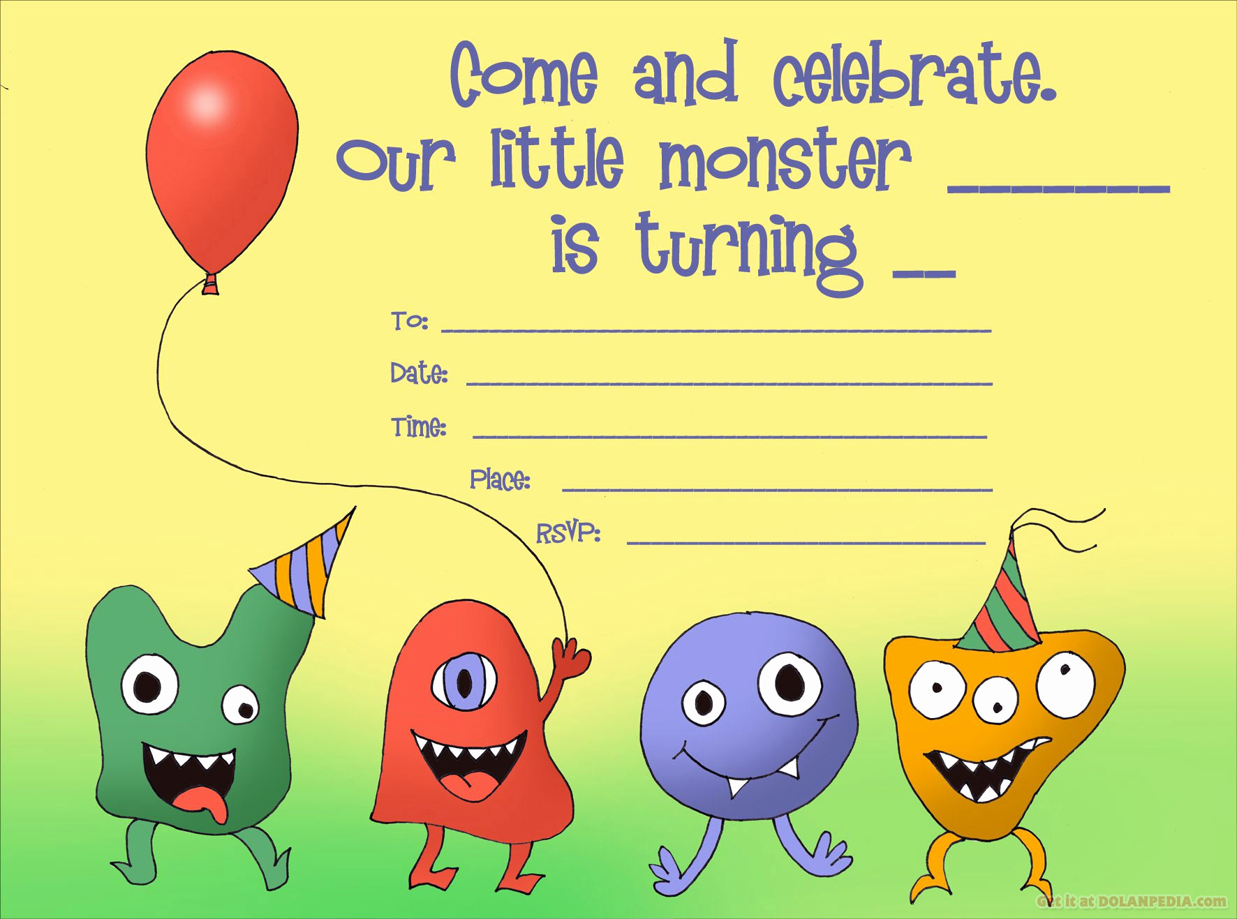Monster Birthday Invitation Template Inspirational Little Monsters Birthday Invitation Template