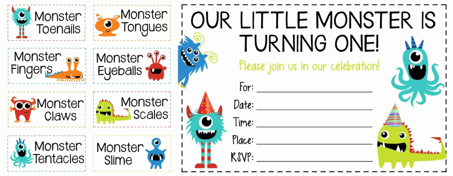 Monster Birthday Invitation Template Lovely How to Throw A Monster Party Free Printable Invites and
