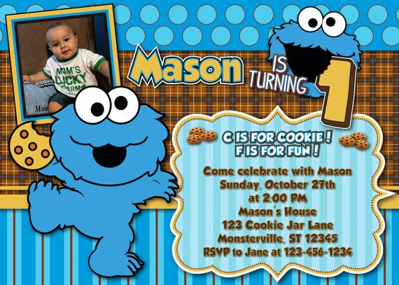 Monster Birthday Invitation Template Unique Nice Cookie Monster Birthday Invitations Free Templates