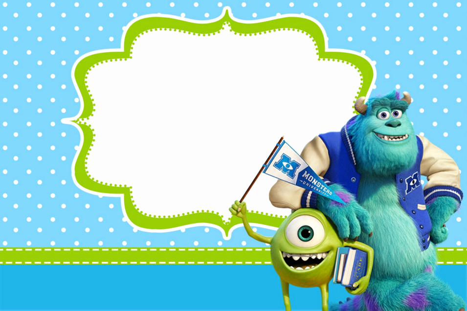 Monster Inc Invitation Template Awesome Monsters Inc Baby Shower Invitation Templates – Party Xyz