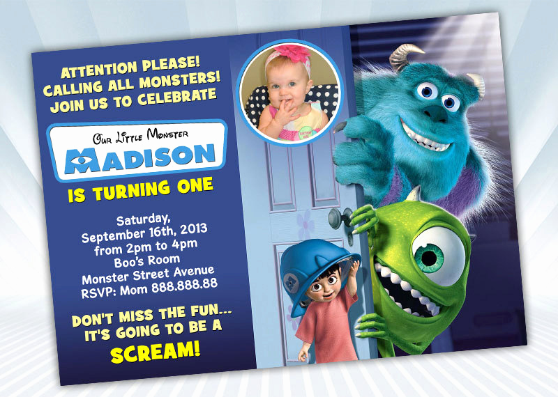 Monster Inc Invitation Template Lovely Digipartyshoppe