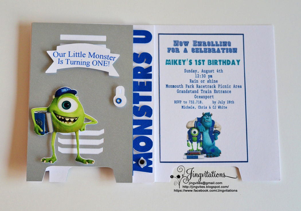 Monster Inc Invitation Template Lovely Monster University Invitations