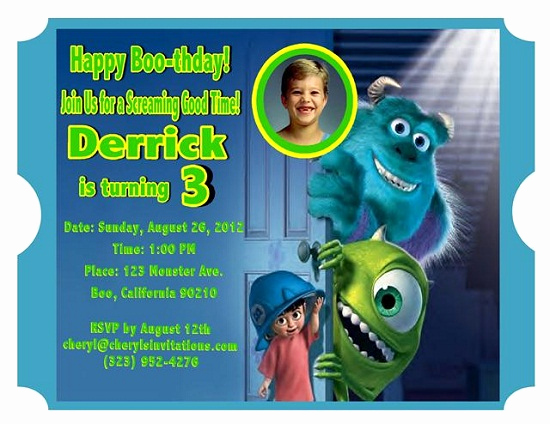 Monster Inc Invitation Template Luxury Monsters Inc Birthday Invitations Ideas – Bagvania Free