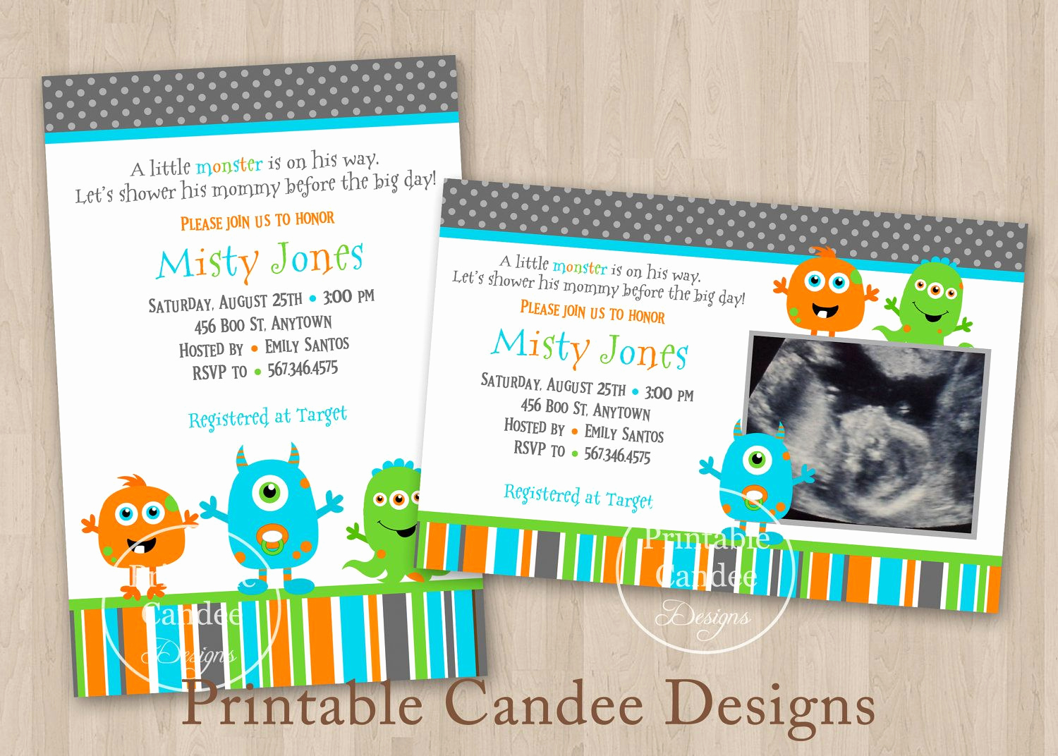 Monster Inc Invitation Template New Monster Baby Shower Invitation Monster Baby Shower