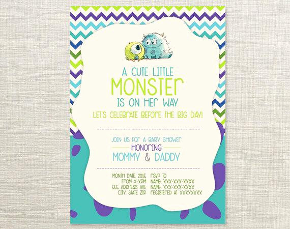 Monster Inc Invitation Template New Monsters Inc Baby Shower Invitations Monsters Inc Diaper