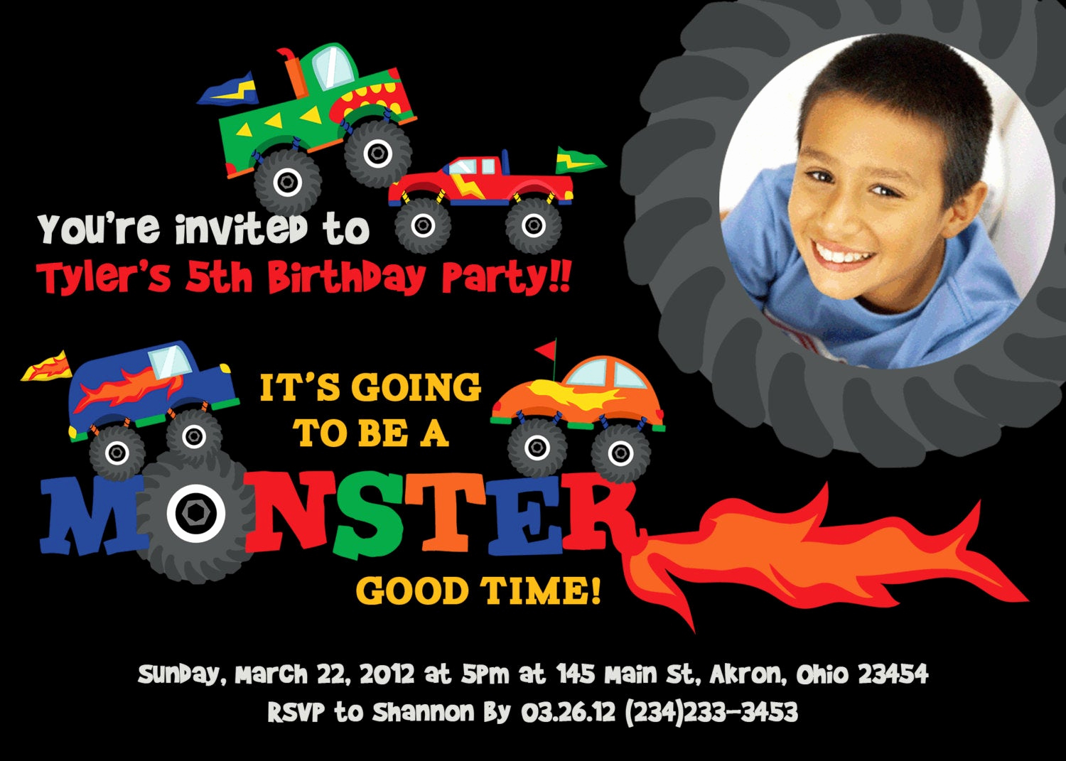 Monster Truck Invitation Templates Free Best Of Monster Truck Birthday Invitations by Invitations