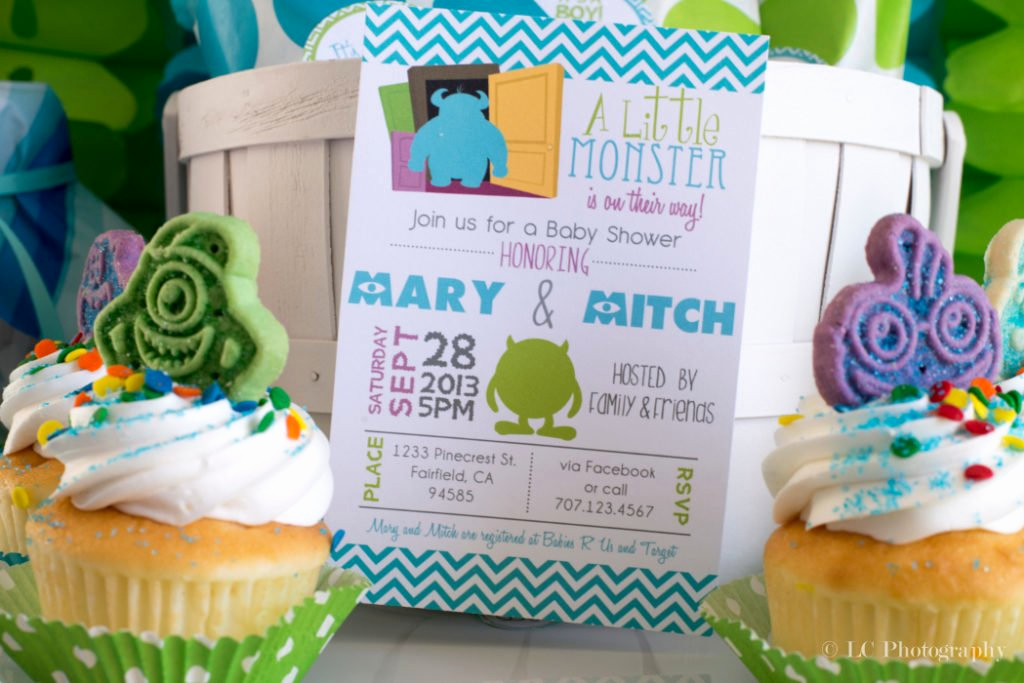 Monsters Inc Baby Shower Invitation Beautiful Monsters Inc Baby Shower Ideas