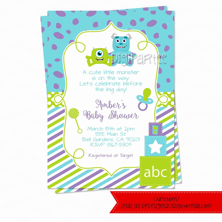 Monsters Inc Baby Shower Invitation Best Of Best 10 Monsters Inc Invitations Ideas On Pinterest
