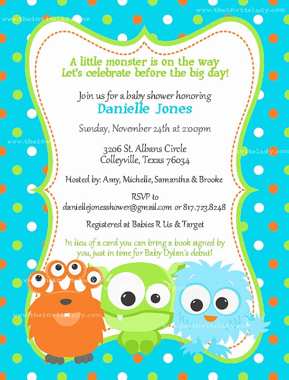 Monsters Inc Baby Shower Invitation Elegant Best 25 Monster Baby Showers Ideas On Pinterest