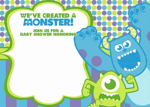 Monsters Inc Baby Shower Invitation Fresh Monsters Inc Baby Shower Invitation
