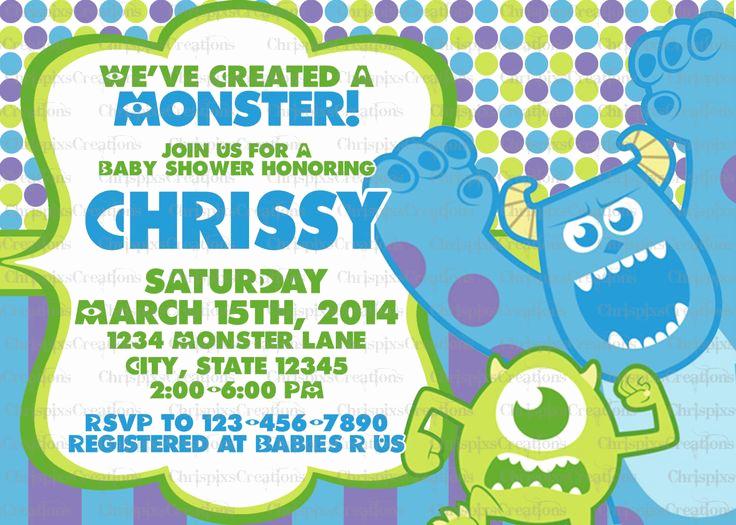 Monsters Inc Baby Shower Invitation Fresh Monsters Inc Baby Shower Invitation Print at by