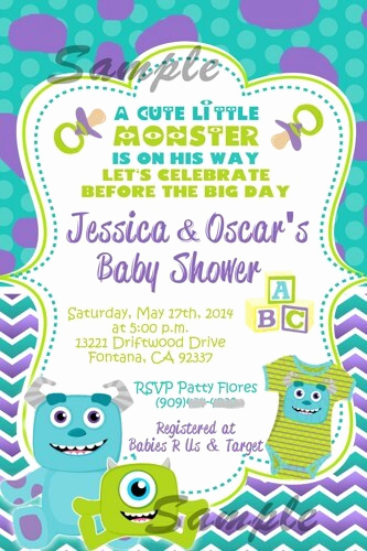 Monsters Inc Baby Shower Invitation Lovely the Best Monster Inc Baby Shower Party Supplies
