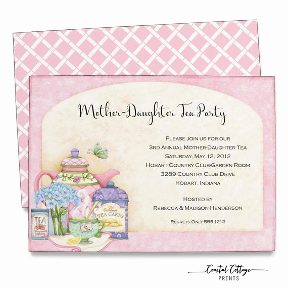 Mother Daughter Tea Invitation Fresh Mother Daughter Tea Invitation Bridal Shower