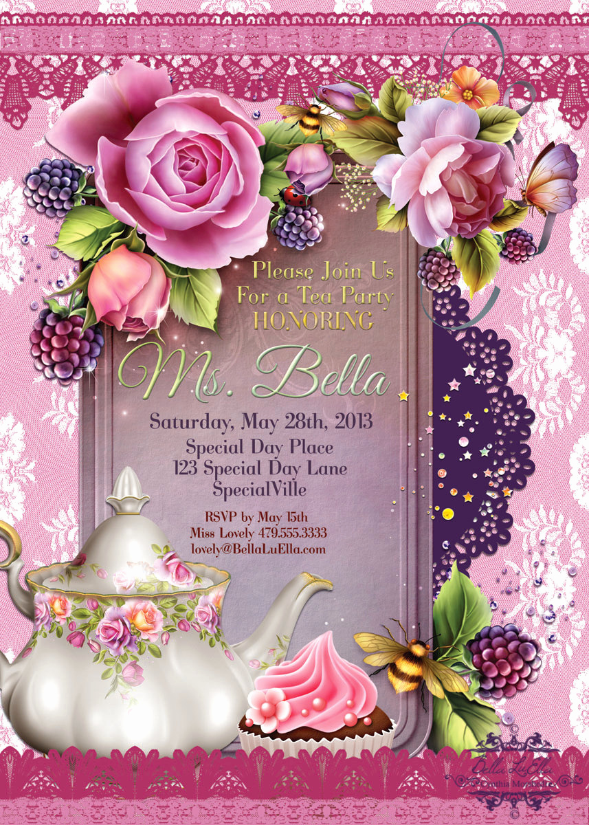 Mother Daughter Tea Invitation Fresh Tea Party Invitations Tea Parties Party Invitations Tea
