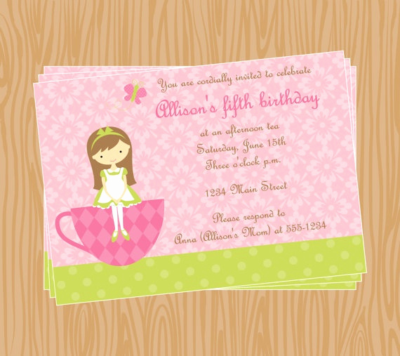 Mother Daughter Tea Invitation Lovely Tea Party Invitation Mother Daughter Tea