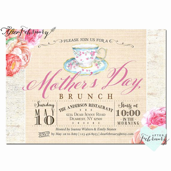 Mother Daughter Tea Invitation Luxury 17 Best Images About Mother Daughter Brunch Ideas On