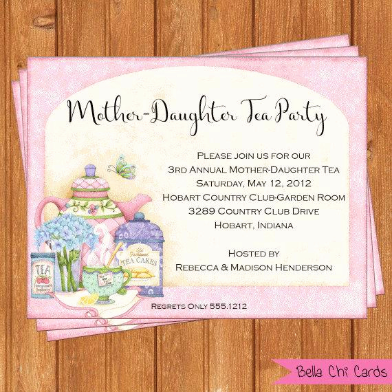 Mother Daughter Tea Invitation Luxury Mother Daughter Tea Invitation Bridal Shower by Bellachicards