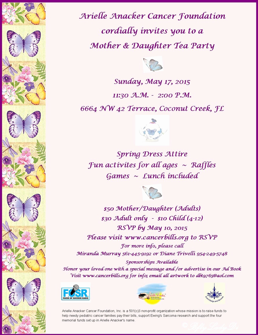 Mother Daughter Tea Invitation Unique Arielle Anacker Arielle Anacker Cancer Foundation fort