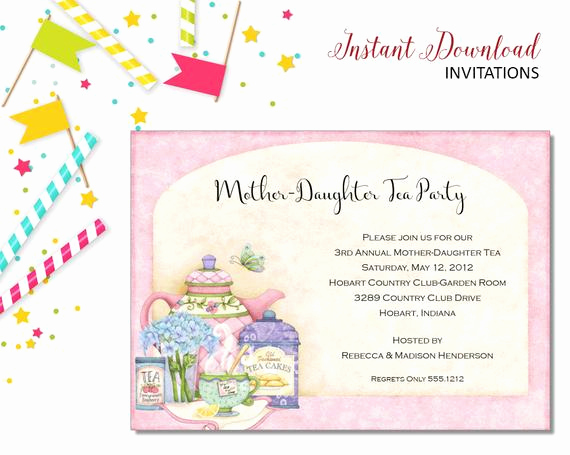 Mother Daughter Tea Invitation Unique Mother Daughter Tea Invitation Bridal Shower