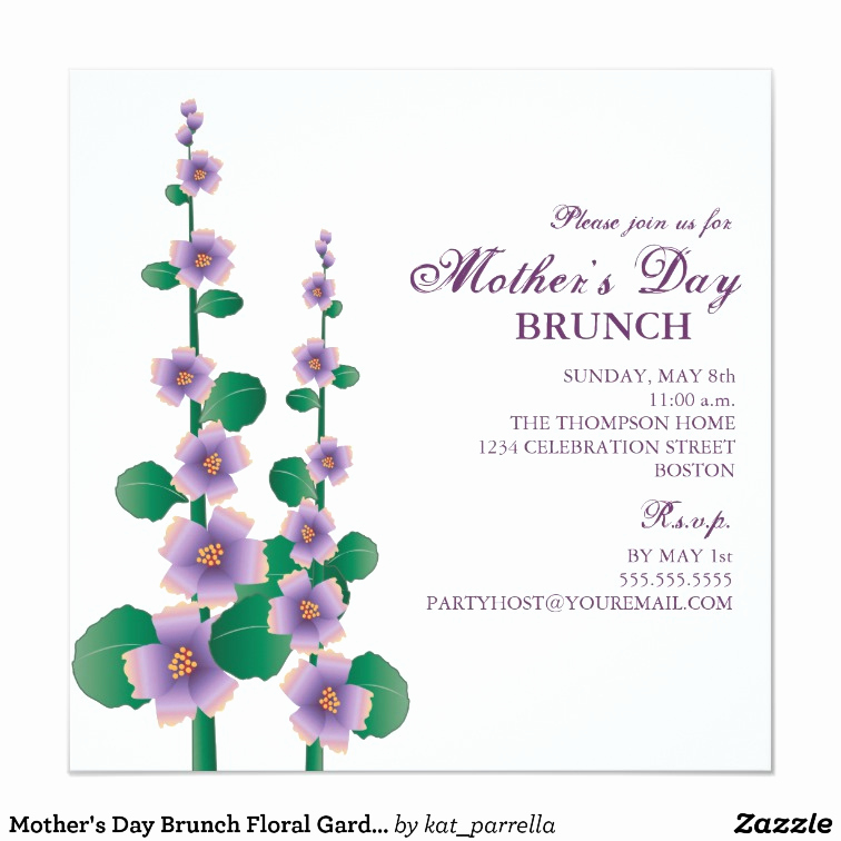 Mother Day Brunch Invitation Awesome Mother S Day Brunch Floral Garden Invitation