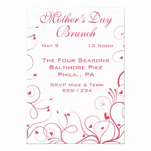 Mother Day Brunch Invitation Awesome Mothers Day Brunch Wording