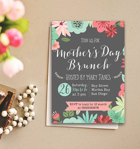 Mother Day Brunch Invitation Elegant Mother S Day Brunch Invitation Bridal Shower by