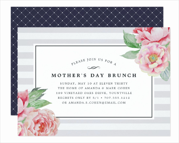 Mother Day Brunch Invitation Fresh 17 Mother S Day Invitation Templates Free & Premium