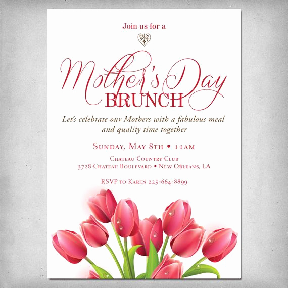 Mother Day Brunch Invitation Fresh Items Similar to Printable Mother S Day Brunch Invitation