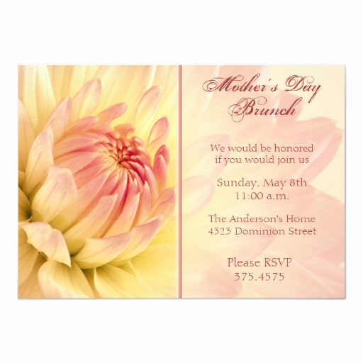 Mother Day Brunch Invitation Inspirational Mother S Day Brunch Dahlia Invitation