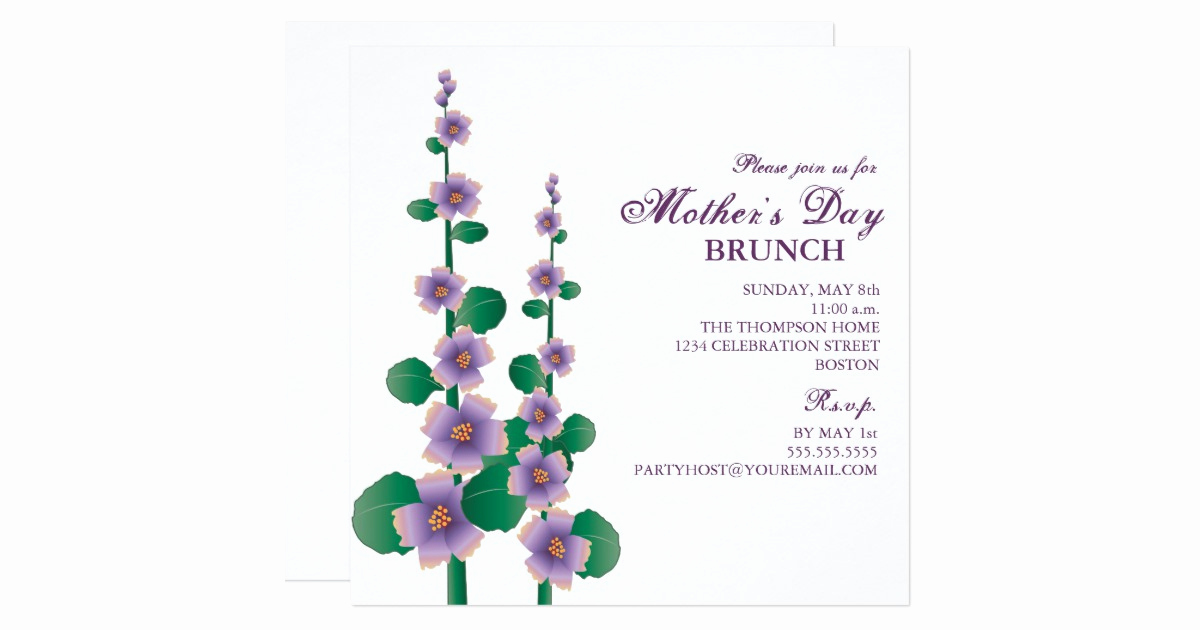 Mother Day Brunch Invitation Inspirational Mother S Day Brunch Floral Garden Invitation