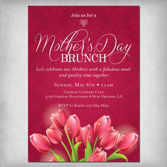 Mother Day Brunch Invitation Lovely Items Similar to Printable Mother S Day Brunch Invitation