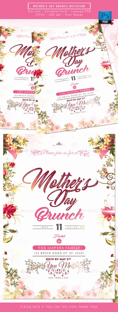 Mother Day Brunch Invitation Lovely Mother S Day Lunch Flyer Design to Customize