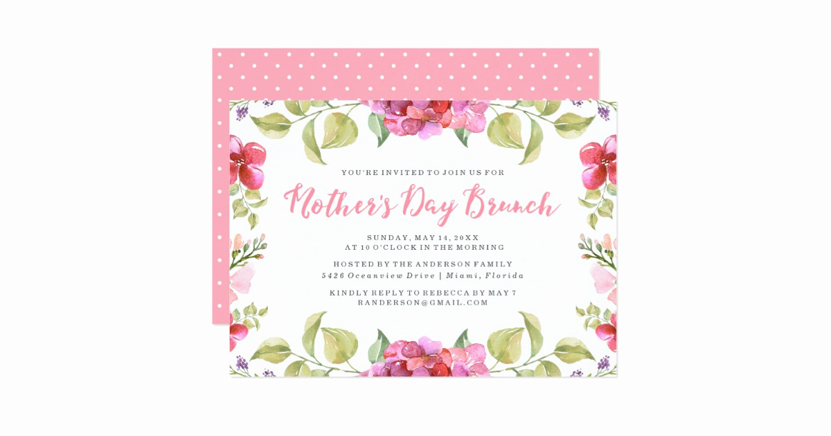 Mother Day Brunch Invitation Lovely Sweet Blossoms Mother S Day Brunch Invitation