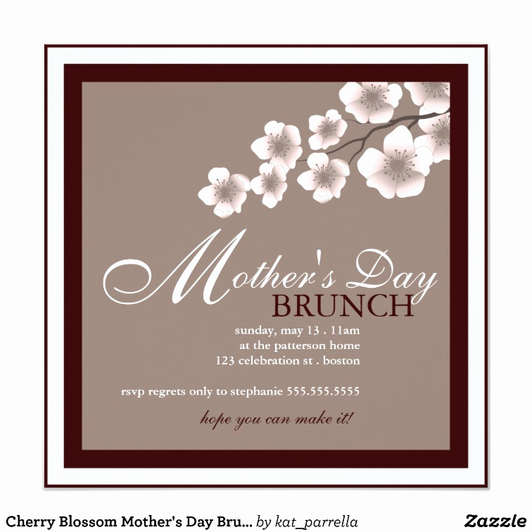 Mother Day Brunch Invitation Luxury Cherry Blossom Mother S Day Brunch Invitation