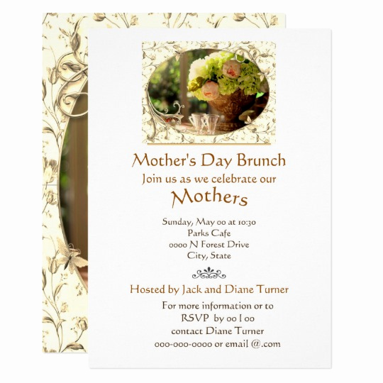 Mother Day Brunch Invitation Luxury Elegant Cream Roses Mother S Day Brunch Invitation