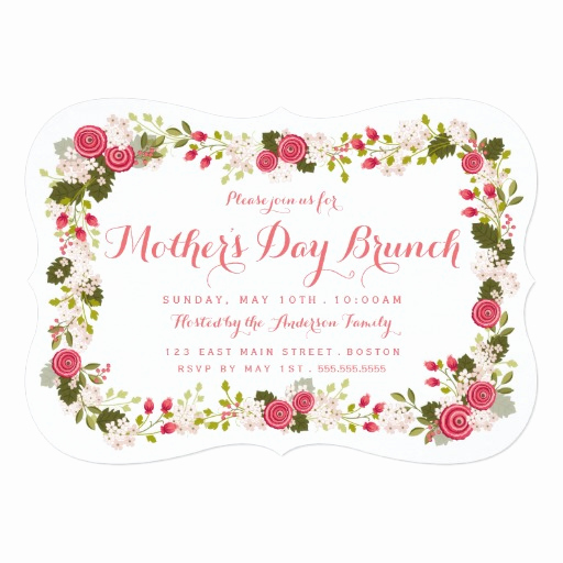 Mother Day Brunch Invitation New Sweet Pink Floral Mother S Day Brunch Invitation Card