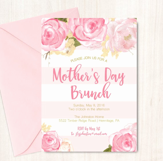 Mother Day Brunch Invitation Unique Mother S Day Brunch Invitation Easter Brunch Invite by