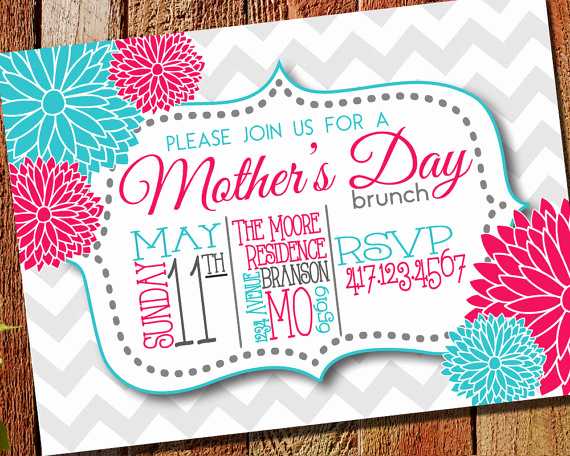 Mother Day Brunch Invitation Unique Mother S Day Brunch Invitation Printable & Evite by