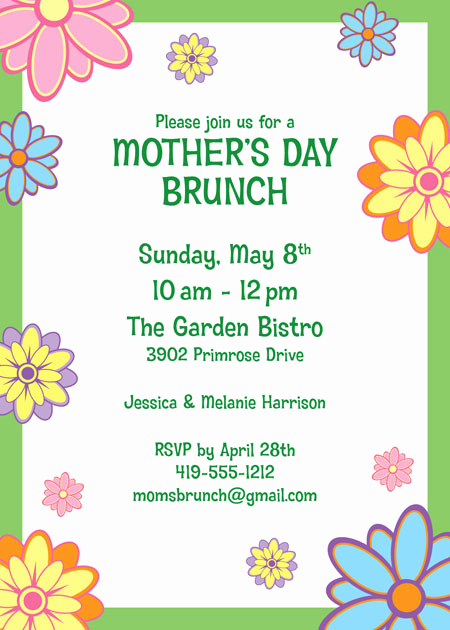 Mother Day Invitation Wording Beautiful Mother S Day Party Invitation
