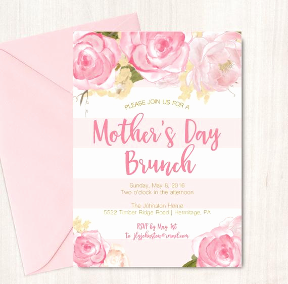 Mother Day Invitation Wording Elegant Mother S Day Brunch Invitation Easter Brunch Invite by