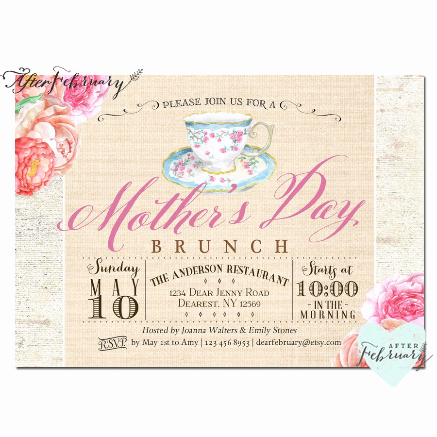 Mother Day Invitation Wording Fresh Mother S Day Invitation Mother S Day Brunch