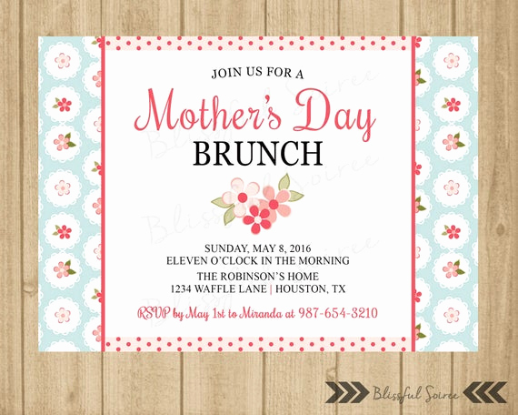 Mother Day Invitation Wording Lovely Mother S Day Brunch Invitation Mother S Luncheon