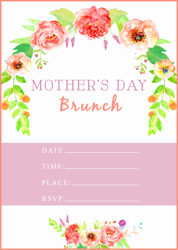 Mother Day Invitation Wording Lovely Mother S Day Brunch with Free Printable A Cup Full Of Sass