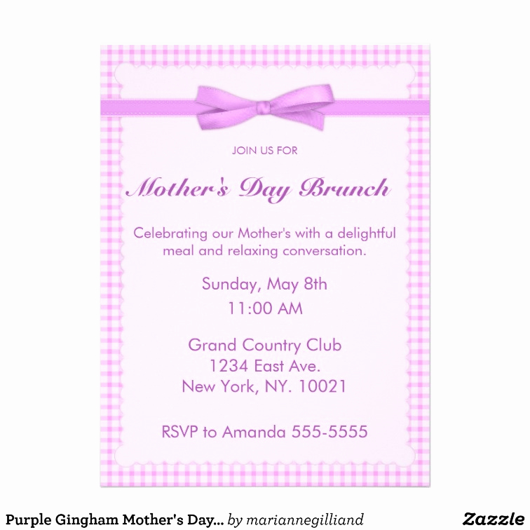 Mother Day Invitation Wording Unique Mothers Day Brunch Invitations Templates