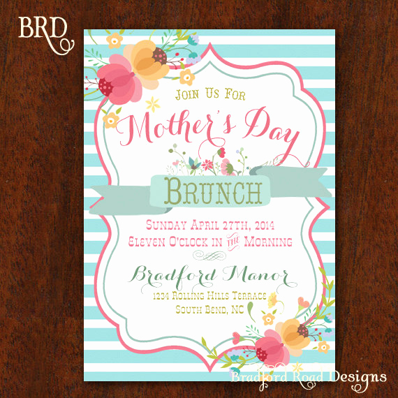 Mother Day Tea Invitation Awesome Mother S Day Brunch Mothers Day Invitation Luncheon