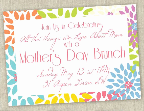 Mother Day Tea Invitation Beautiful Printable Mother S Day Brunch Invitation