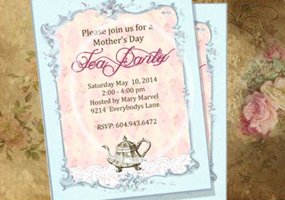 Mother Day Tea Invitation Best Of Mother S Day Tea Party Invitations Custom Printable