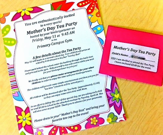 Mother Day Tea Invitation Best Of Mother S Day Tea Party Invitations